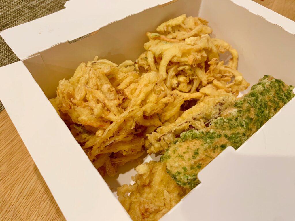 丸亀製麺の天ぷらテイクアウト